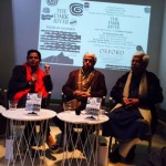 At the launch of SK's translation of Krishan Chander's novel 'The Dark River' with Prof Ali Javed and literary historian and writer Rakhshanda Jalil in New Delhi